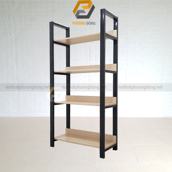 Kệ sắt gỗ 4 tầng
