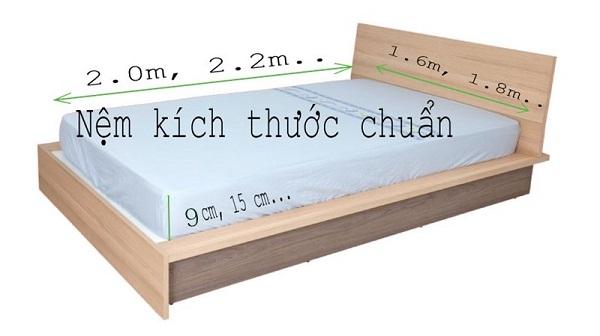 kích thước giường chuẩn nhất